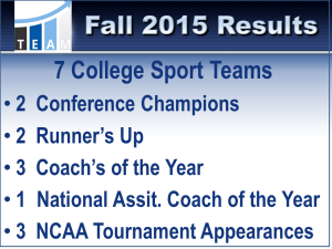 2015 Fall Results